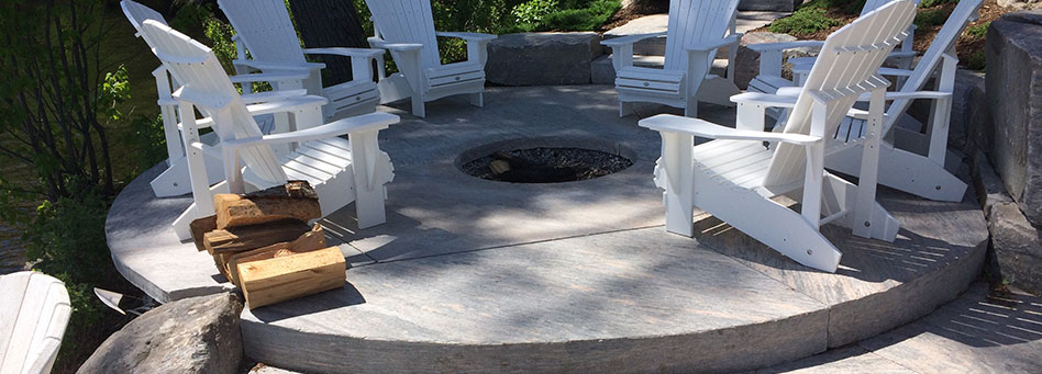 Patio Saw Cut Firepit