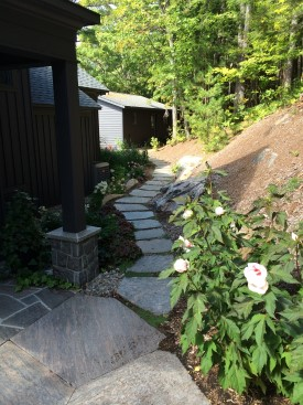 Stepping stone path from porch